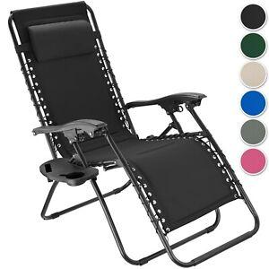 Chaise de Jardin Lounge Transat Patio Meuble Coussins Extérieur pliable réglable