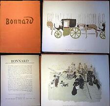 1948 PIERRE BONNARD PORTFOLIO LITHOGRAPHS VIE DE PARIS SERIES +