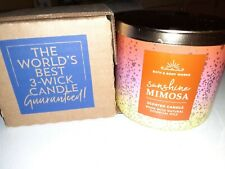 Brand New Bath and Body Works Scented 14.5 oz 3-Wick Candle Sunshine Mimosa
