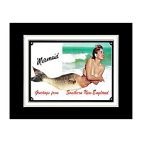 Southern New England Mermaid - Matted for 11x14 Frame