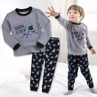 "Vaenait Baby Toddler Kids Boy Clothes Sleepwear Pajama Set ""Shark attack"" 12M-7T"