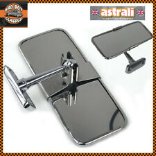 Stainless Steel UNIVERSAL Rear View Mirror Interior KIT CAR / HOT ROD