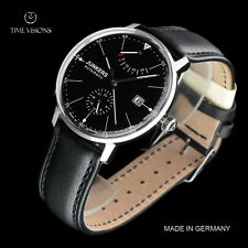 Junkers 40mm Bauhaus German Made Caliber 9132 Automatic Leather Strap Watch