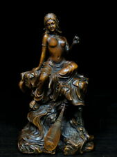 Decoration Handwork Boxwood Carving Beauty Naked Foot Has Jean Precious Statue