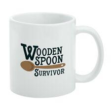 Wooden Spoon Survivor Funny White Mug