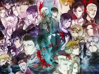 Tokyo Ghoul -Japanese Anime Fabric Art Cloth Poster 17inch x 13inch Decor 4