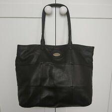 Furla black leather large handbag shoulder bag shopper tote Made in Italy VGC