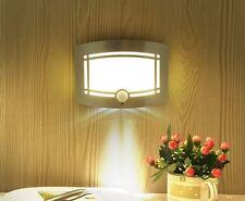 LED Wireless Light-operated PIR Motion Sensor Battery Power Wall Lights Lamps