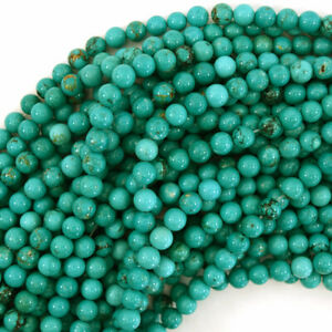 """Green Turquoise Round Beads Gemstone 15.5"""" Strand S2 4mm 6mm 8mm 10mm 12mm"""