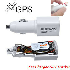 Car Charger GPS Tracker Locator GSM GPRS RealTime Tracking Device White Portable