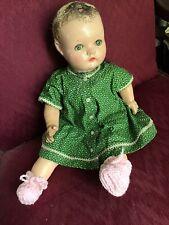 16� Abc Toy Co. - Composition / Cloth Mama Doll -Tin Eyes. Lovable!