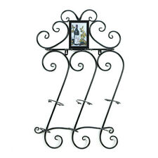 Home Kitchen Decor Scrollwork Wall Wine Rack Bottle And Glass Holder