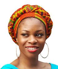 Kente African Print Ankara Modu Hat Pre-tied Head wrap  DP3227PH