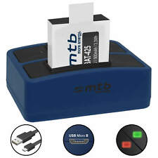 Akkuset Dual Ladegerät Akku für Rollei Action Cam (AC) 425, 426