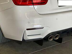 2014 -2019 BMW F80 F82 M3 M4 Rear Bumper Reflector Overlay BLACK