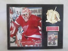 Red Wings Mike Vernon plaque hockey card