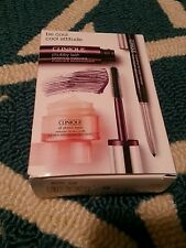 """Clinique Gift Set 3 piece FULL SIZE Mascara/Liner/All About Eyes NIB """"Be Cool"""""""