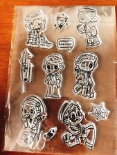 Marvel The Avengers Captain Steve Bucky Tony Loki Acrylic Silica gel Seal Set