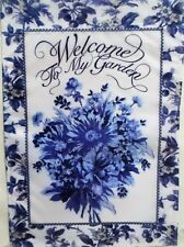 """Welcome Cherry Blossom Outdoor Garden Flag by Evergreen 12""""x18"""", #1023"""