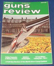 GUNS REVIEW MAGAZINE DECEMBER 1987 - THE MARTIN 9MM CAMP CARBINE