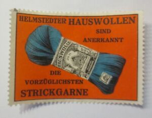 Vignettes, Helmstedter Hauswollen Are Recognized Knitting Yarn 1910 (70627)