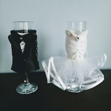 Wedding Champagne Glasses Bride & Groom, Champagne Toasting set