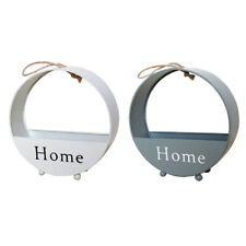 2x Wall Hanging Flower Basket Small Things Storage Rack Home Garden Decor