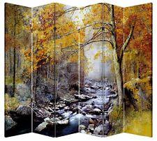 6 Panel Folding Screen Canvas Divider- Autumn River