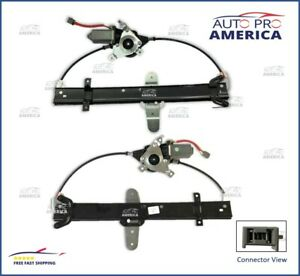 (2) SET OEM 98-11 Lincoln Town Car Rear Power Window Lift Regulators WITH Motors