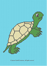 Crochet Patterns - TURTLE Color Graph Baby Afghan Pattern