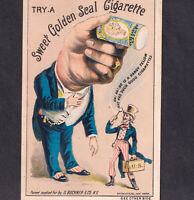 Uncle Sam Sweet Golden Seal Cigarette 19th Century Tobacco Card Puzzle of 100
