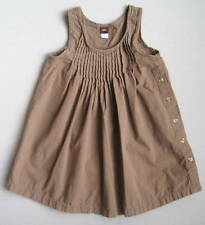 Tea Collection Girls 5 Yrs Cecelia Crinkle Dress EUC Jumper Brown Stripes Mexico