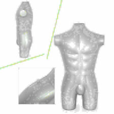 Man Silver Whole Body Inflatable Mannequin Dummy Torso Model Fashion Display