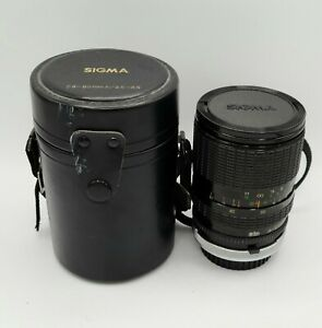 Vintage Sigma Zoom 28-80mm f/3.5-4.5 For Canon Camera Lens With Case Retro
