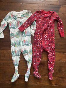 HANNA ANDERSSON 80 Baby Toddler Organic Zip Sleeper Pajama Footies 18-24 Month