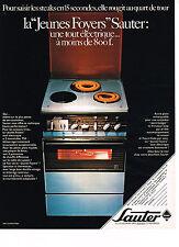 PUBLICITE  1970   SAUTER  cuisinière TOUT ELECTRIQUE JEUNES FOYERS
