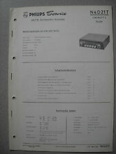 PHILIPS n4d21t Autoradio Service Manual, edizione 02/63