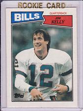 JIM KELLY Bills 1987 Topps ROOKIE CARD Football BUFFALO RC Vintage NFL