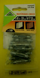 Metal Cavity Wall Anchors M4 x 33mm (10 in a Pack)