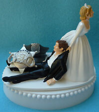 Wedding Cake Topper Police Officer Policeman Themed Hat Badge Bride and Groom