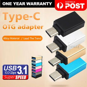 Premium USB 3.1 Type C Male to USB 3.0 A Female Converter USB-C Data OTG Adapter