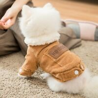 Autumn/winter Fleece Pet Clothes for Small Dogs Cats Thicken Warm Coat Jackets