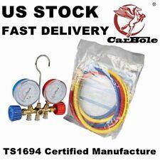 New R12 R22 R134A R502 HVAC A/C Refrigeration Charging Kit Manifold Gauge Set