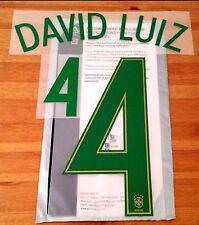 Brazil Home Shirt 2016-17 DAVID LUIZ#4 OFFICIAL SportingiD PS-Pro Name & Number