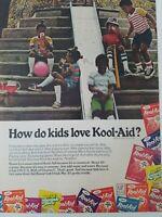 1977 Kool-Aid drink mix black children playing slide vintage ad