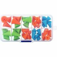 40 Pieces Multi-Colored Needle Point Stoppers Needle Point Protectors Need E4A3