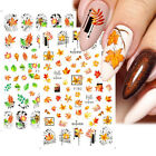 Holographic Waterproof Leaf INS Nails Art Stickers Decals Flowers Decorations US