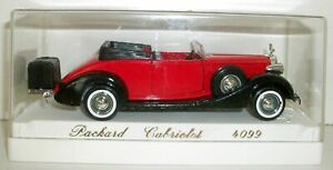SOLIDO 1/43 - 4099 PACKARD CABRIOLET - RED BLACK