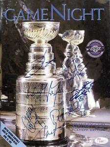 JSA LOA 1992 Game Night LA Kings Signed Program x7 w/ Wayne Gretzky TRB 201