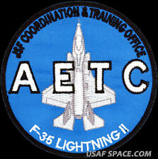 USAF AIR EDUCATION AND TRAINING COMMAND -F-35A LIGHTNING II- ORIGINAL VEL PATCH